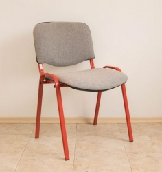 Visitor chair with gray fabric
