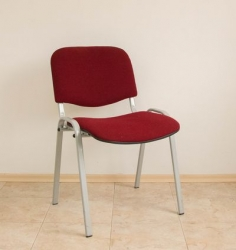 Visitor chair with red fabric