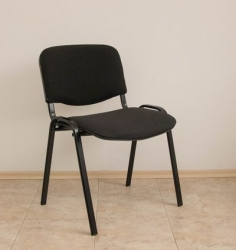 Visitor chair with black fabric