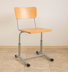 Student chair with height adjustment