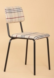 Student chair upholstered with fabric